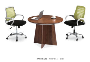 Modern Round Wooden Meeting Negotiate Desk for Office pictures & photos