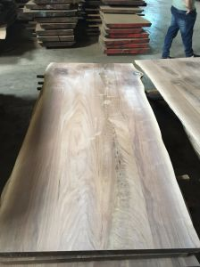 Walnut Multi-Plank Top with Live Edge pictures & photos