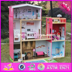 2017 Wholesale Girls Uptown Dollhouse, Modern Size Wooden Uptown Dollhouse, Wood Uptown Dollhouse with Furniture W06A152 pictures & photos