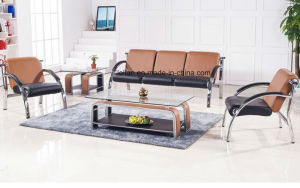 Competitive Leather Sofa Seating for Public Area (LL-W008) pictures & photos
