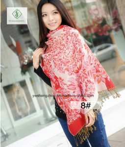 2017 Newest Lady Fashion Pashmina Shawl Ethnic Style Jacquard Scarf pictures & photos