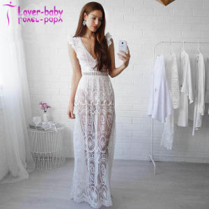 Sexy Hollow out Lace Elegant Maxi Dress L5015 pictures & photos