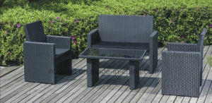 4 Piece Patio Rattan Sofa Set Wicker Table and Chair Set pictures & photos