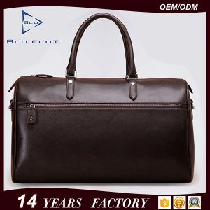 China Factory Large Capacity Travel Bag Cow Hide Genuine Leather Handbags pictures & photos