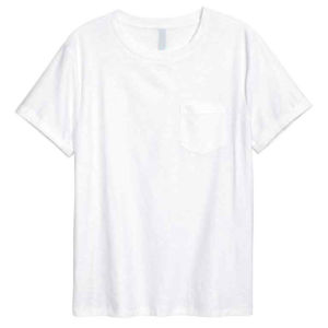 100%Cotton Mens White T-Shirt with Chest Pocket pictures & photos