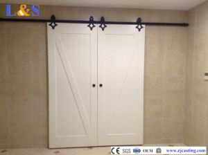 Solid Wood Sliding Barn Door Hardware pictures & photos