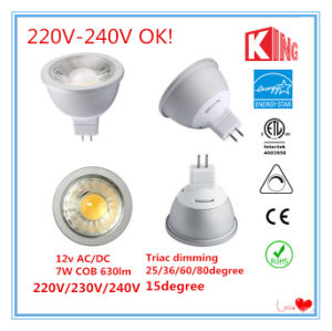 220V-240V 7W Dimmable LED MR16 Spotlights