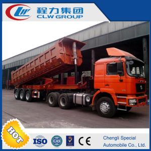Hydraulic Self Discharge Sand 3 Axles 60ton Rear Tipper Trailer for Sale pictures & photos