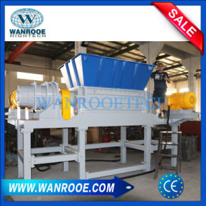 Double Shaft Shredder for Wood Pallet/ Solid Plastic Waste pictures & photos