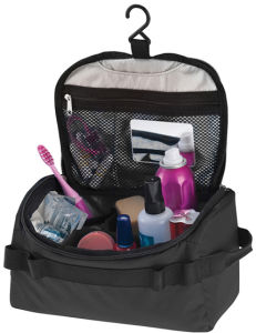 Multifunction Travel Folding Cosmetic Make-up Wash Organiser Bag with Hook pictures & photos