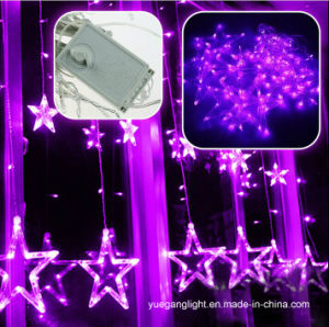 Hot Selling High Quality 2m138LEDs LED Curtain Light with 12 Big Star pictures & photos
