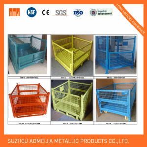 Movable Metal Stackable Wire Mesh Storage Cage pictures & photos