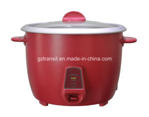Drum Type Electric Rice Cooker with Glass Lid