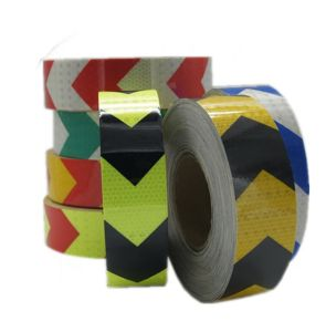 PVC Arrow Safety Reflective Warning Tape, Fluorescence Yellow/Black pictures & photos