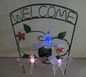 Metal Frame Solar Power Crafts with Flowers pictures & photos