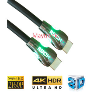 High Speed HDMI Cable with LED Light, Support for 3D/4k/18gbps/2160p pictures & photos