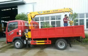 4X2 Sinotruk 3 Tons 3t Truck with Hydraulic Crane for Sale pictures & photos