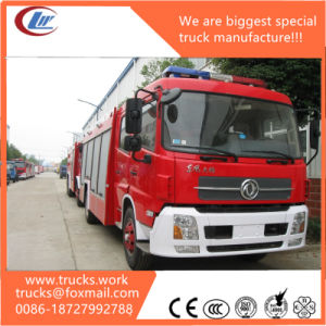 6X4 Tianlong 12000liters Dry Podwer Fire Truck Mounted Crane pictures & photos