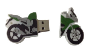 Customized PVC USB Flash Drive for Motorcycle pictures & photos