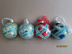 Glass Pyriform Hang Decoration for Christmas pictures & photos