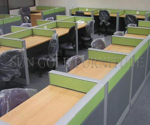 Classic Yellow Panel Office 6 Seater Call Center Cubicle with Drawer Unit (SZ-WS249) pictures & photos