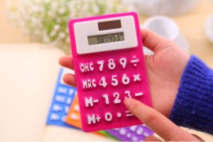 Colorful and Customized 8 Digit Solar Power Foldable Flexible Calculator pictures & photos