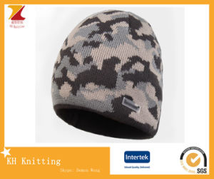 Custom Jacquard Knitted Winter Ski Hat for Sport