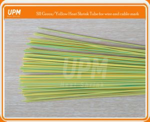 Yellow Green Yg Stripped Color Heat Shrinkable Sleeve for Cable Identification Protection pictures & photos