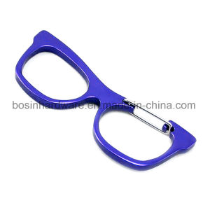 Glasses Shaped Aluminum Carabiner Key Ring pictures & photos