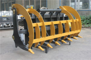 China Grass Grapple Installed on Skid Steer Loader pictures & photos