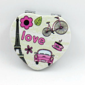 Promotional Gift Metal Double Sides Portable Cosmetic Pocket Mirror Gift Advertising pictures & photos
