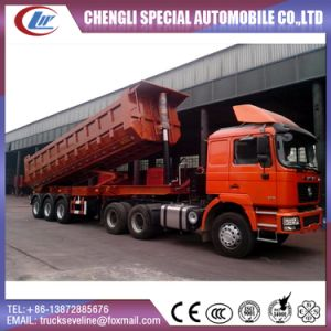 U Shape 50 Ton 3 Axles Rear Dump/Tipper Semi Trailer pictures & photos