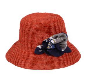 Women′s Raffia Bucket Hat pictures & photos