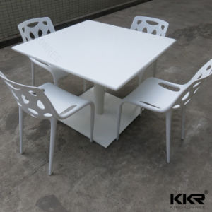 Kingkonree White Square Restaurant Solid Surface Dining Table pictures & photos