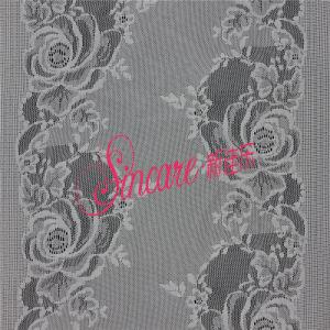 Hot Sale Jacquard White Nylon/Cotton Stretch Elastic Lace