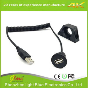 USB 2.0 Male to Female Coiled Cable for Motorcycle pictures & photos
