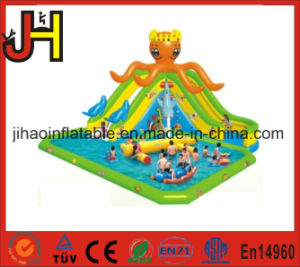 Big Octopus Shape Giant Inflatable Water Slides with Pool pictures & photos