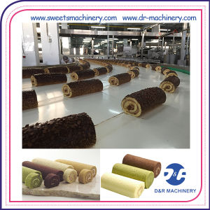 Swiss Roll Layer Cake Production Line Snack Industry Bakery Machine pictures & photos