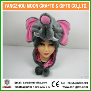 Funny Hooded Faux Fur Plush Elephant Animal Hat pictures & photos