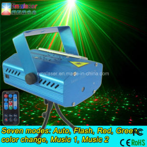 Wholesale Mini Laser Projector Light 6 Patterns Laser Light with MP3 Player and Remote Control pictures & photos
