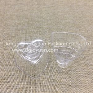 Heart-Shape Disposable Plastic Cup Printed Dessert Cup pictures & photos