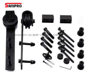 Sanipro Classic Black Sliding Barn Door Hardware Kit pictures & photos