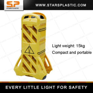 Yellow Portable Plastic Traffic Fence, Expandable Barrier pictures & photos