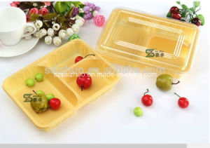 Low Price Eco-Friendly 3 Compartment Disposable Plastic Take Away Bento Box pictures & photos