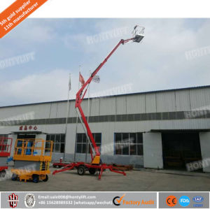 Cheap Price Ce ISO Certificated Vehicle Trailer Mounted Towable Boom Lift pictures & photos