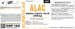 Lipoic Acid Capsules 200mg GMP Factory Thioctic Acid pictures & photos