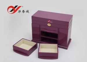 Steel Paint Purple Wood Jewelry Storage Box pictures & photos