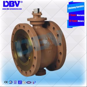 Industrial One Piece Electric Stellite Seat Flanged V Type Ball Valve pictures & photos