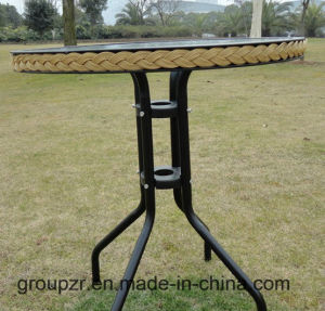 Garden Furniture Tempered Glass Table Bounded with Ratten pictures & photos