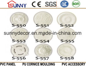 PU Ceiling Medallions/Decorative Ceiling Medallion/Polyurethane Cornice Moulding pictures & photos